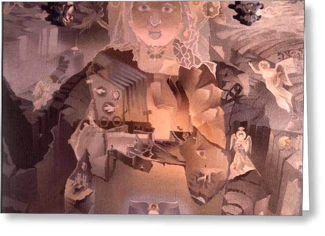 The Cosmic Christ 1976 Greeting Card by Glenn Bautista