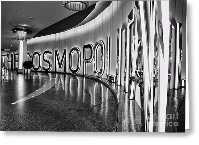The Cosmopolitan Hotel Las Vegas By Diana Sainz Greeting Card