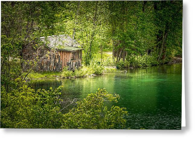 The Cottage By The Lake Greeting Card