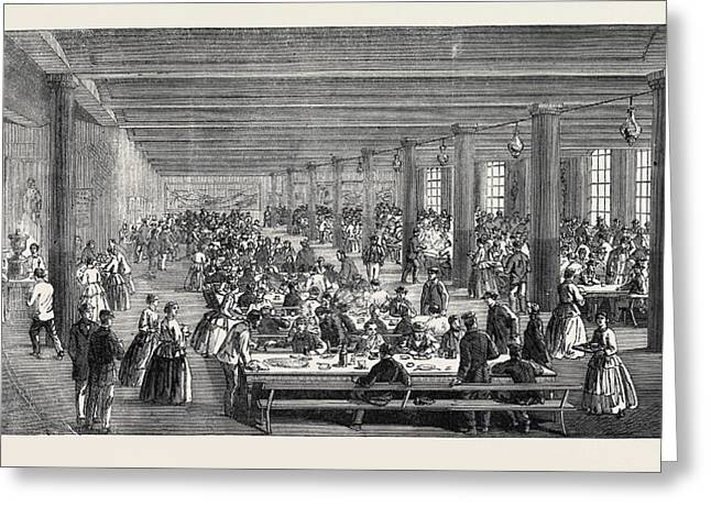The Cotton Famine Working Mens Dining Hall Gaythorn Cooking Greeting Card by English School