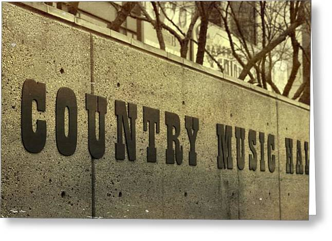 The Country Music Hall Of Fame Greeting Card by Dan Sproul