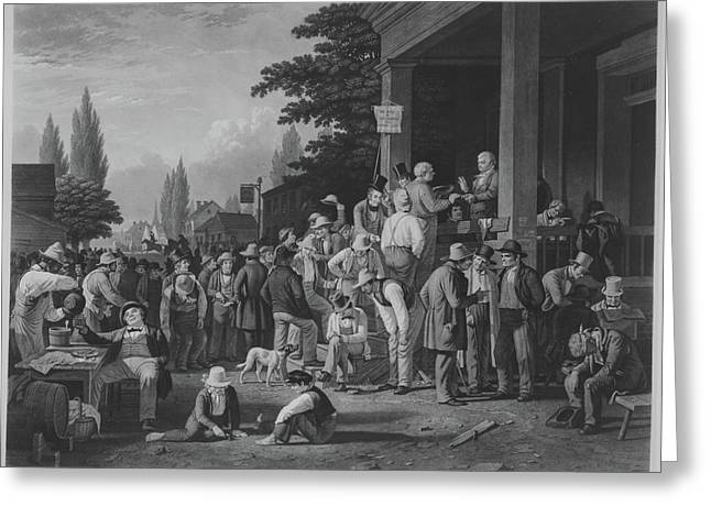 The County Election Greeting Card by After George Caleb Bingham