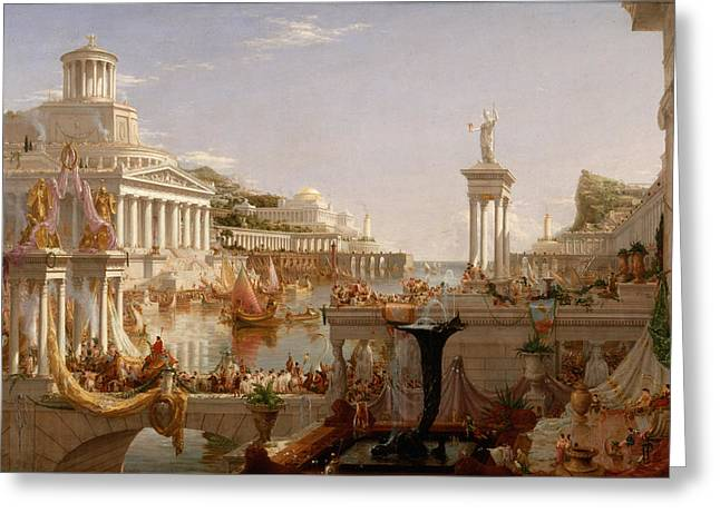 The Course Of Empire Consummation  Greeting Card