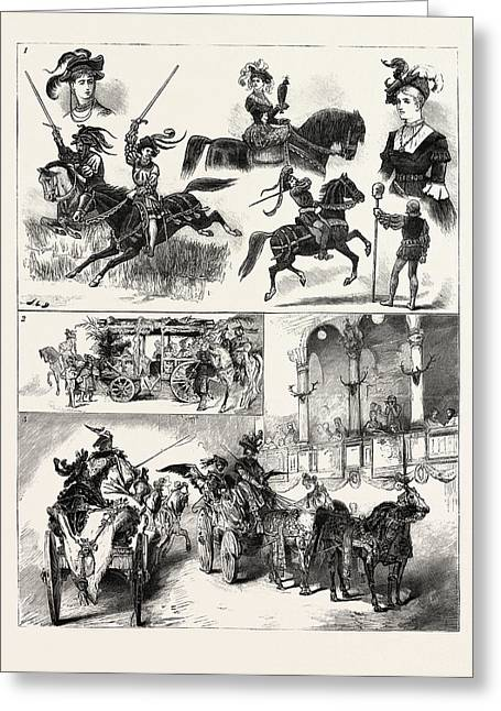 The Court Equestrian Festival At Vienna Greeting Card