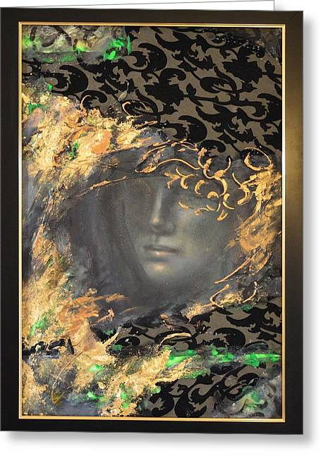 The Courtesan By Mihaela Ghit Greeting Card by Mihaela Ghit