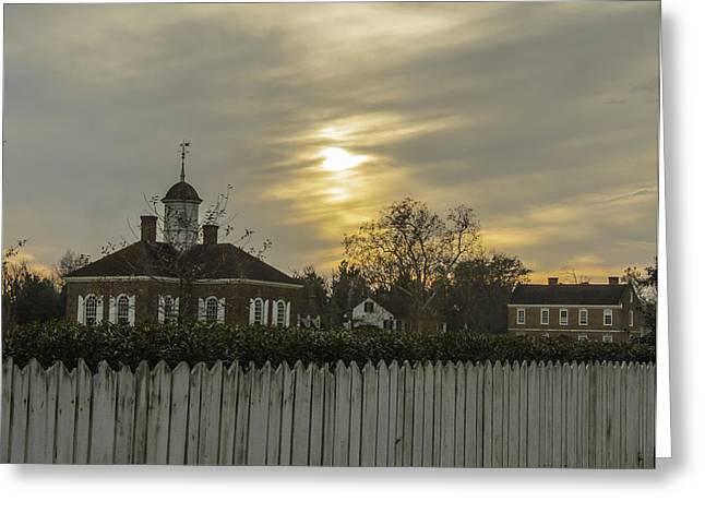 The Courthouse At Colonial Williamsburg Greeting Card