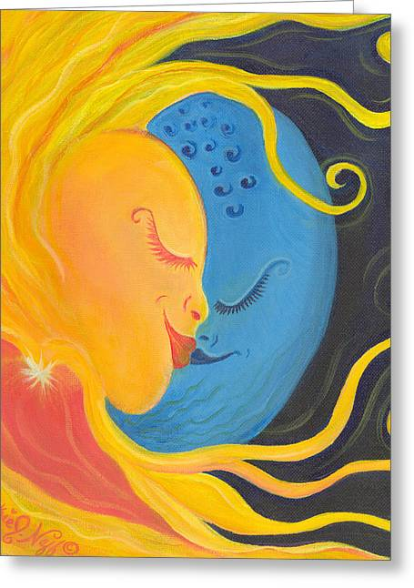 The Courtship Greeting Card by Beckie J Neff