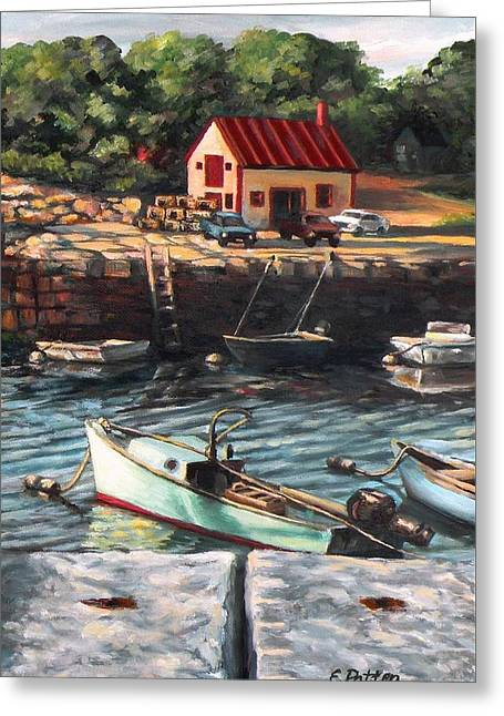 The Cove Greeting Card by Eileen Patten Oliver