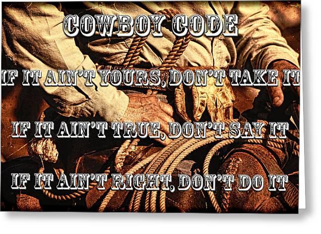 The Cowboy Code Greeting Card