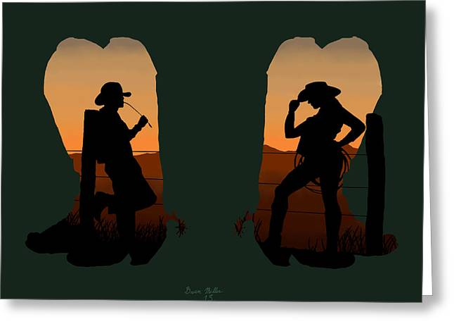 The Cowboy Way 2.. Nice Boots Greeting Card by Brien Miller