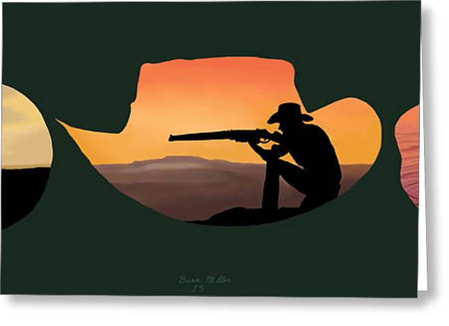 The Cowboy Way Greeting Card by Brien Miller