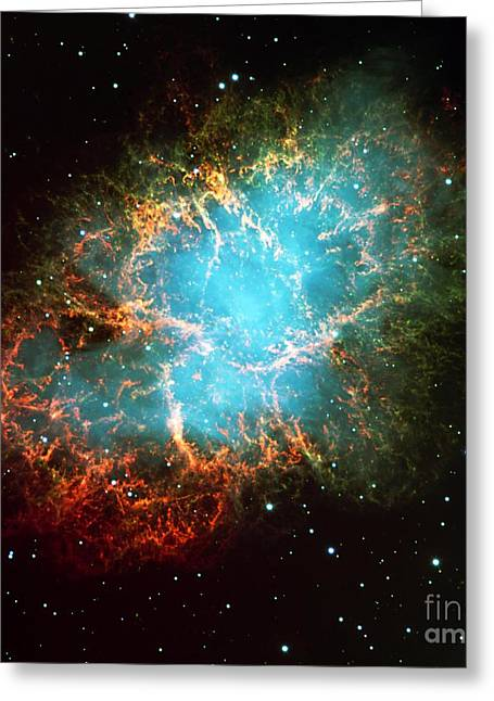 The Crab Nebula Greeting Card by Paul Fearn