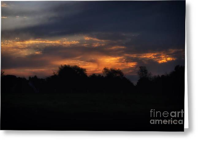The Crack Of Dawn Greeting Card by Thomas Woolworth