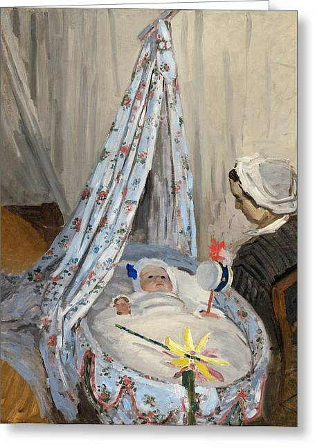 The Cradle Greeting Card by Claude Monet