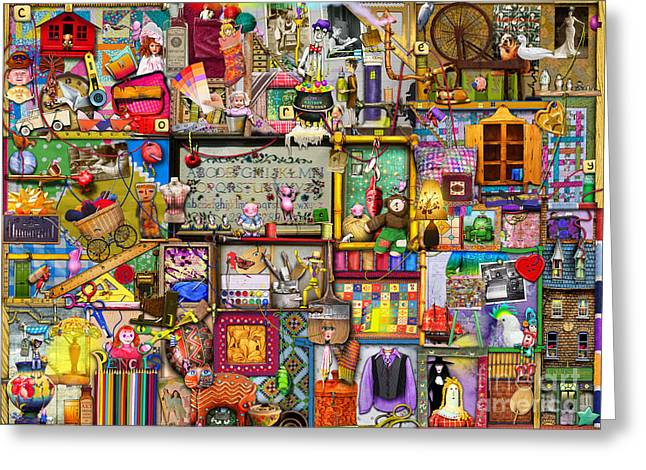 The Craft Cupboard Greeting Card by Colin Thompson