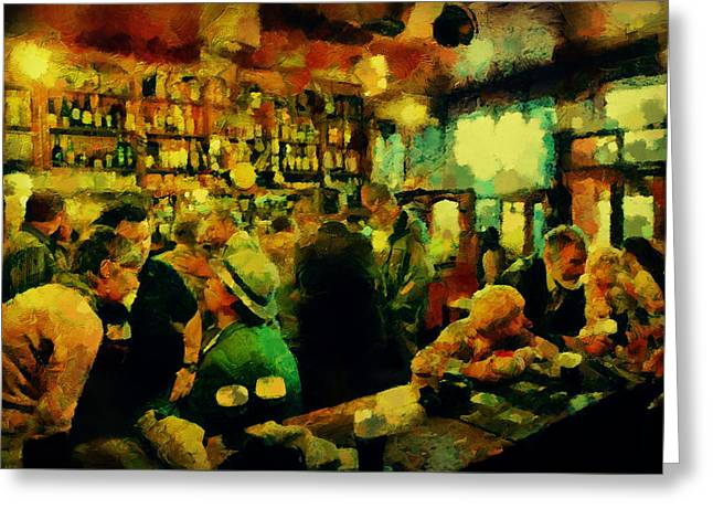 The Craic Was Mighty  Greeting Card by Janice MacLellan