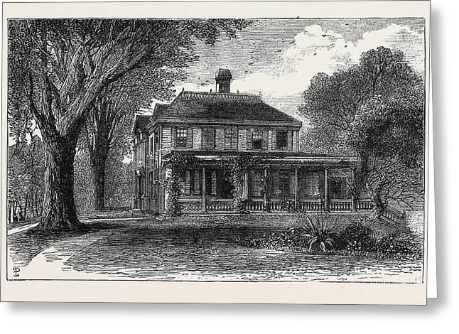 The Craigie House, Cambridge, Massachusetts Greeting Card by English School