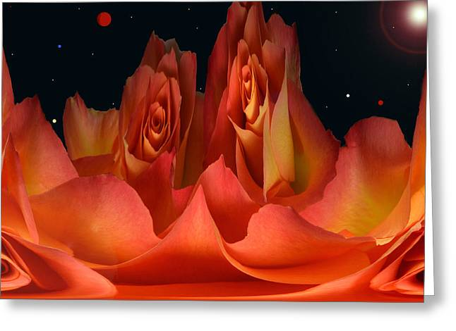 The Creation Of Rose. Greeting Card by Terence Davis