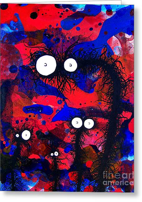 The Creatures From The Drain Painting 41 Greeting Card