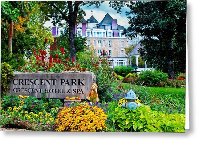 The Crescent Hotel In Eureka Springs Arkansas Greeting Card