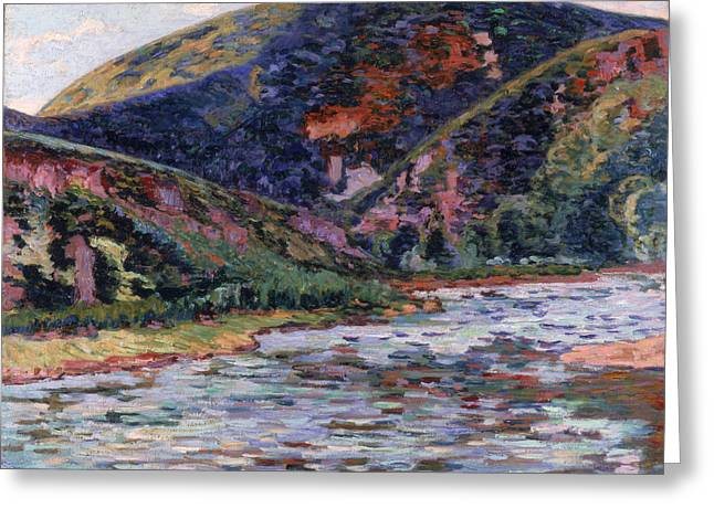 The Creuse In Summertime Greeting Card by Jean Baptiste Armand Guillaumin