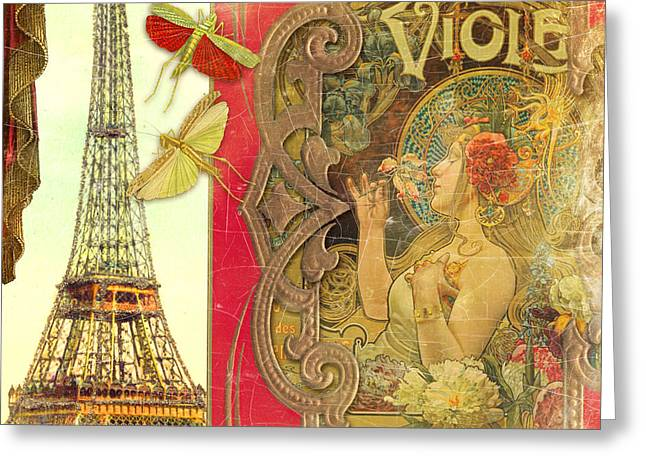 The Crickets Of Paris Greeting Card