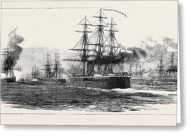 The Crisis In Egypt Arrival Of The British Squadron In Suda Greeting Card by Egyptian School