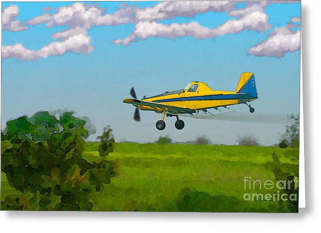 The Crop Duster Greeting Card