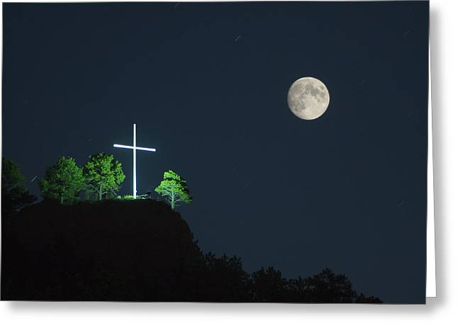 The Cross And The Moon Greeting Card