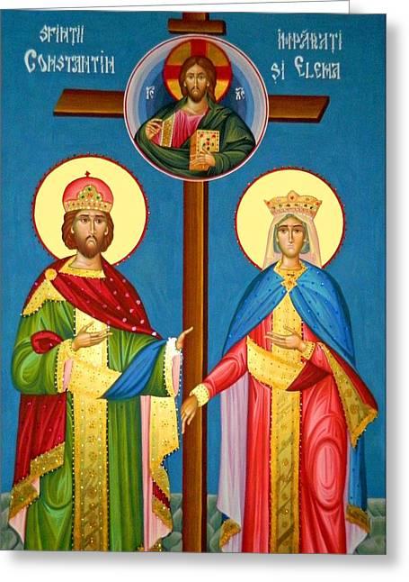 The Cross Icon Greeting Card by Munir Alawi