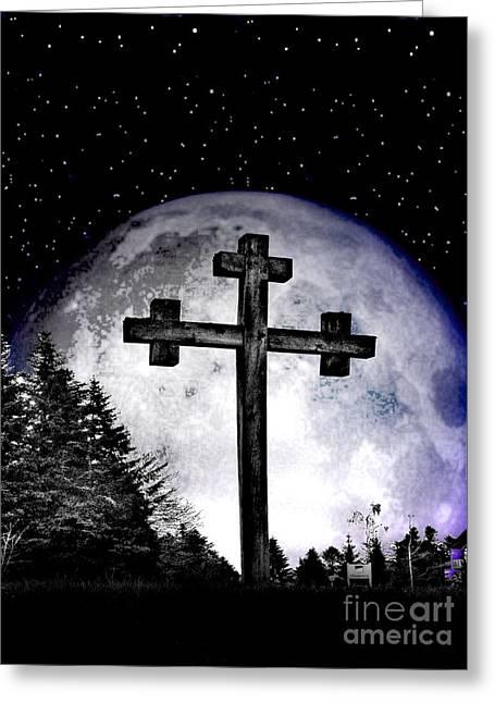 The Cross Greeting Card by Nina Ficur Feenan