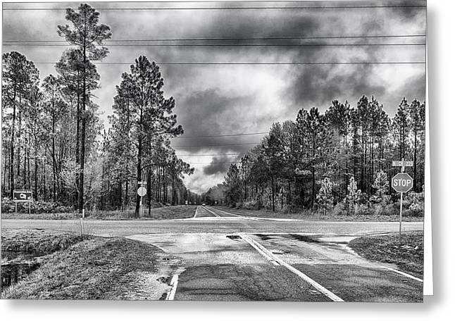 The Crossroads Greeting Card by Howard Salmon
