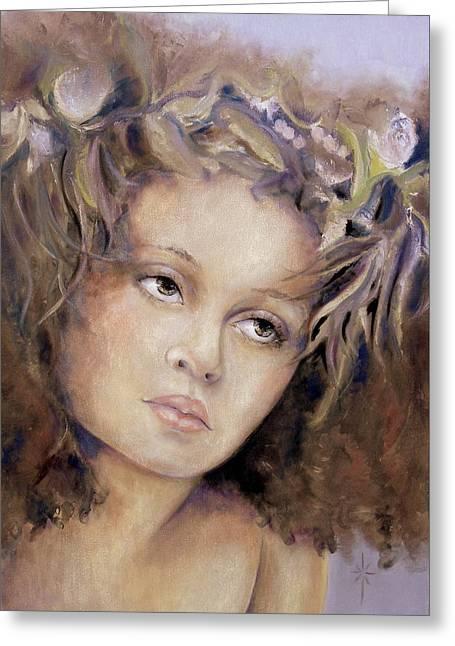The Crown Greeting Card by Jodie Marie Anne Richardson Traugott          aka jm-ART