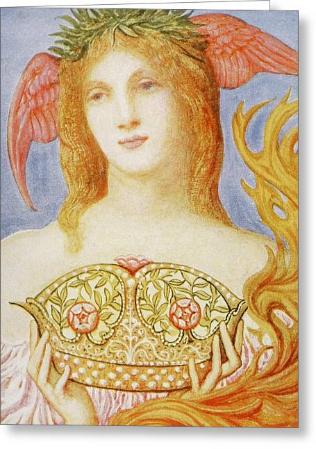 The Crown Of Peace Greeting Card by Sir William Blake Richmond