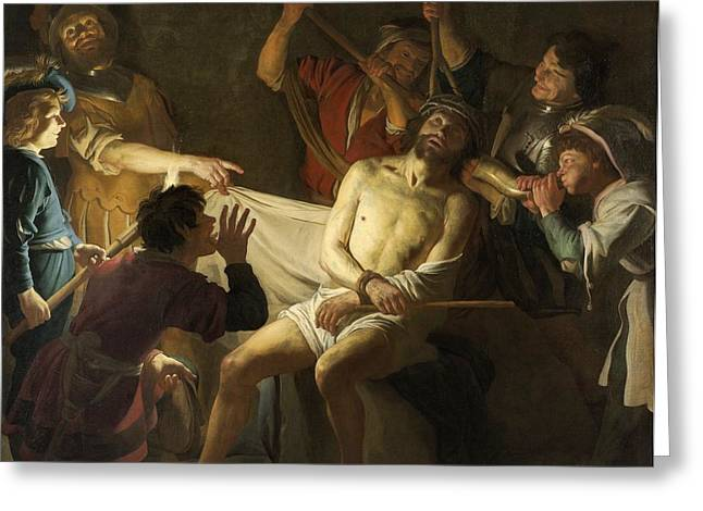 The Crowning With Thorns Of Jesus Greeting Card by Gerard van Honthorst