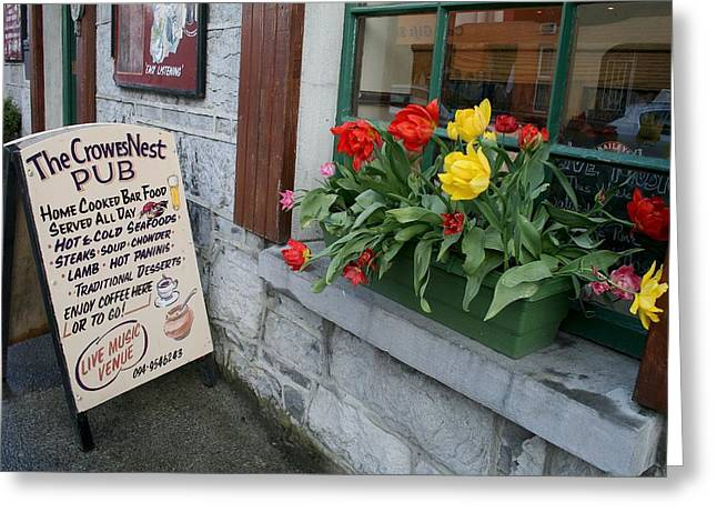 The Crow's Nest Pub In Cong Ireland Greeting Card by Melinda Saminski