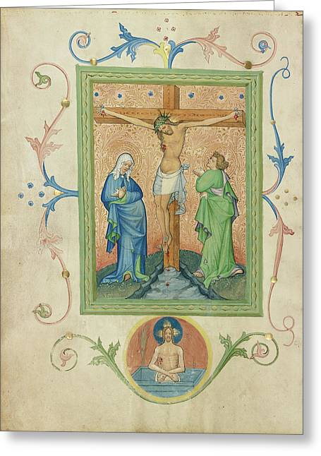 The Crucifixion Master Of The Kremnitz Stadtbuch, Austrian Greeting Card by Litz Collection