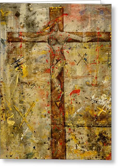 the Crucifying of the Sacred Feminine  Greeting Card