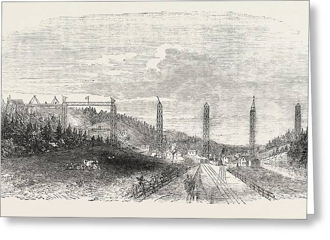 The Crumlin Viaduct On The Western Valley Railway 1854 Uk Greeting Card by English School
