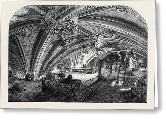 The Crypt Under Old St. Stephens Chapel Westminster Now Greeting Card