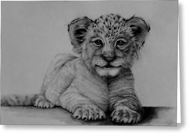 The Cub Greeting Card by Jean Cormier