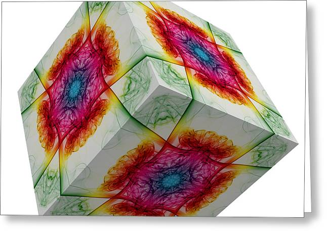 The Cube 3 Greeting Card by Steve Purnell
