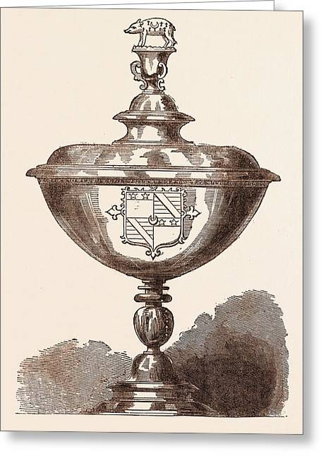 The Cup Of Sir Nicholas Bacon, Who Died On February 20 Greeting Card