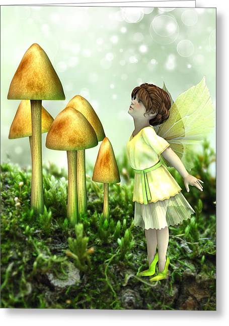 The Curious Fairy Greeting Card by Jayne Wilson