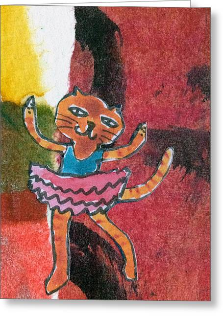 Greeting Card featuring the mixed media The Curtain Call by Catherine Redmayne