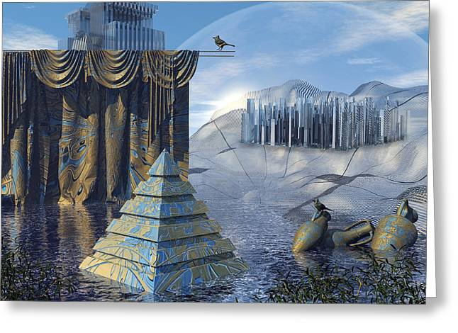 The Curtain Falls Greeting Card by Diuno Ashlee