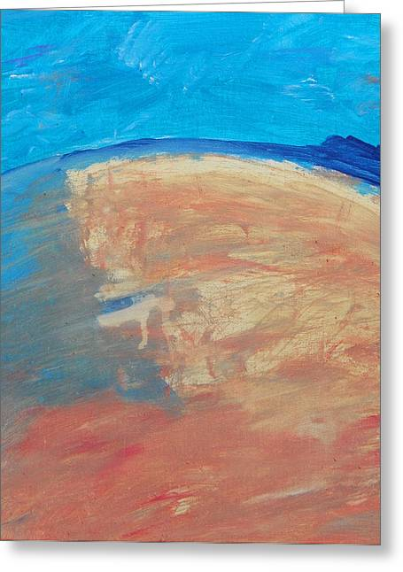 The Curve Of The Beach Greeting Card by Lenore Senior