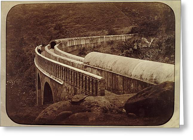 The Curved Bridge Of The St. Anthony River Aqueduct Greeting Card
