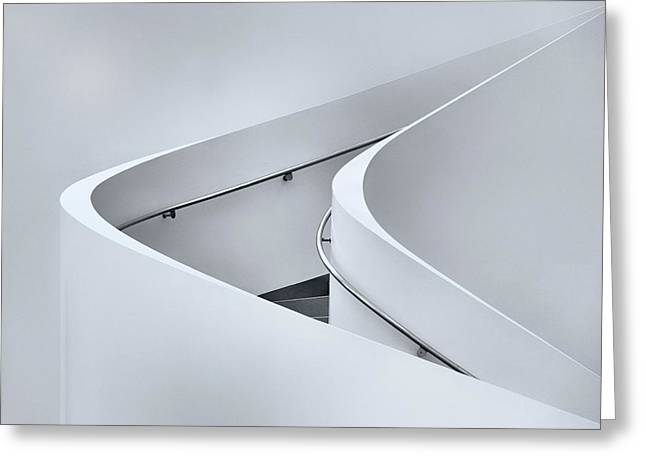 The Curved Stairs Greeting Card by Jeroen Van De