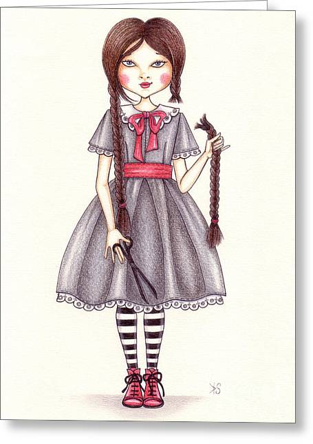 The Cut Greeting Card by Snezana Kragulj